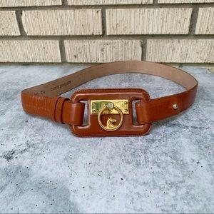 VTG Ginnie Johansen Leather Horse Belt